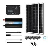 RENOGY 200 Watt 12 Volt Monocrystalline Solar Battery Ready Kit with Wanderer Charge Controller.