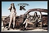 kendall jenner room Framed Jenneration K 24x36 Dry Mounted Poster in Basic Detail Wood Frame Kendall Jenner Kylie Jenner