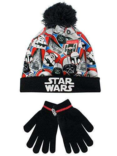 Star Wars Boys' Star Wars Hat and Gloves Set Size 10 - 12 (Ewok Hat)