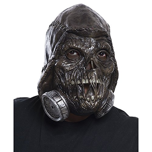 Rubie's Men's Arkham Knight Scarecrow 3/4 Vinyl Mask, Black, One Size -