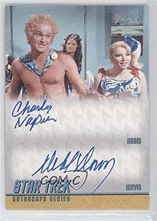 Charles Napier; Deborah Downey (Trading Card) 2013 Rittenhouse Star Trek The Original Series: Heroes & Villians - Dual Autographs #DA28