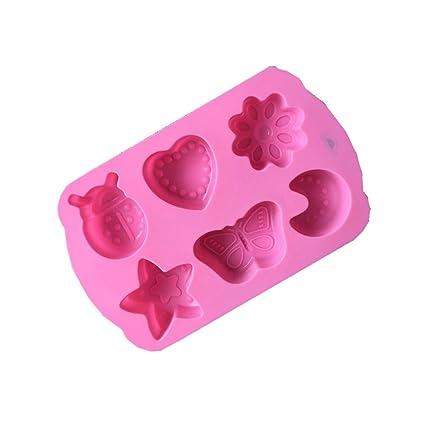iTemer Moldes para Reposteria Jabones Chocolate Bizcochos Hornear Pastel Tartas Estrellas Luna Mariposas Amor Silicona 1