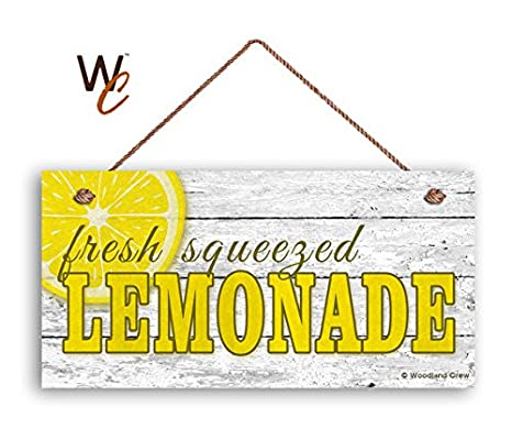 fresh squeezed lemonade sign summer sign rustic white wood 5 x