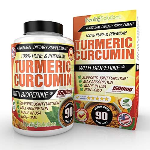 Turmeric Bioperine Supplement Standardized Curcuminoids