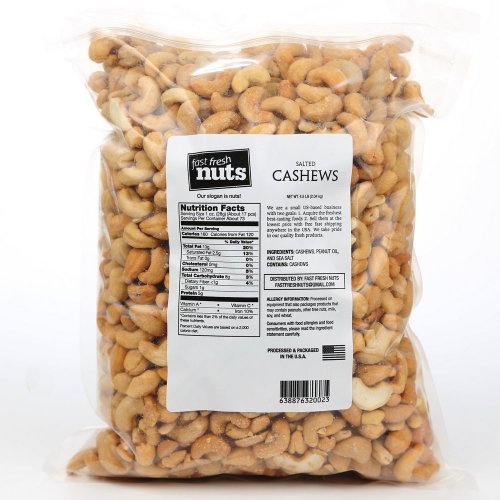 Fast Fresh Nuts û Whole Salted Cashews in a Handy Bulk-Bag û 4.5 lbs