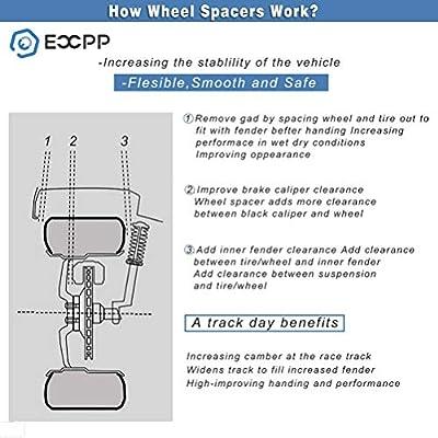 ECCPP 4pcs 4 Lug 1