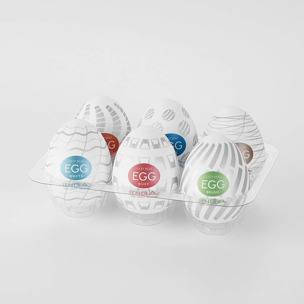 Ten-GA Easy Beat Egg Standard Package Mens Portable Pleasure Device Variety 6 Pack for Men