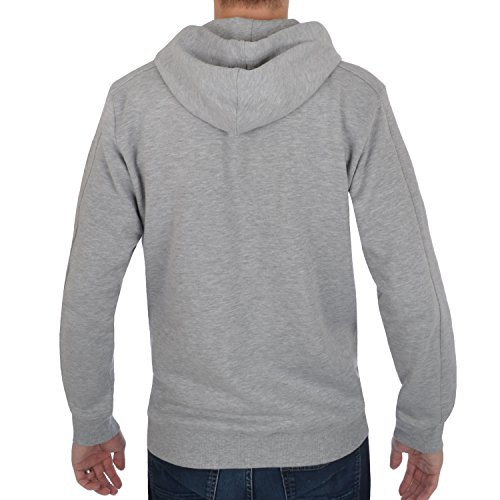 Reebok - Herren Sweatjacke mit Kapuze - Größe L - Grau