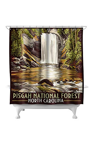 Lantern Press Pisgah National Forest, North Carolina 33624 (74x74 Polyester Shower Curtain)