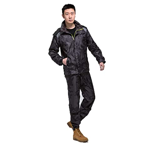 HGCX WY Gabardina Lluvia Pantalones Traje, Impermeable de la ...