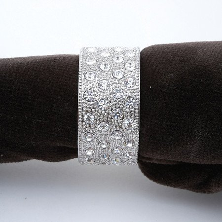 L'Objet Platinum Pave Band Napkin Jewels, Set of 4