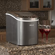 Della© Portable Electric Ice Maker Machine Yield Up To 26 Pounds of Ice Daily - Silver by DELLA