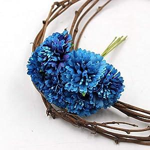 CoronationSun - Chrysanthemum Artificial - 6pcs 3.5cm Chrysanthemum Artificial Flowers for Wedding Scrapbooking Garland Home Decoration 31