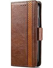 Case Compatibel met Samsung Galaxy A11 M11 Case, Shockproof Wallet Case Book PU Leer met Kaartsleuven Vouwstandaard Magnetische Krasbestendig Beschermen Flip Cover voor Samsung Galaxy A11 M11 bruin
