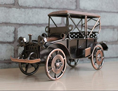 VintageBee Metal Antique Vintage Car Model Home Décor Decoration Ornaments Handmade Handcrafted Collections Collectible Vehicle Toys -