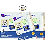Avery Magnet Sheets, 8.5 x 11 Inches, White (03270) (3 Pack)