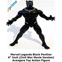 "Review: Marvel Legends Black Panther 6"" Inch (Civil War Movie Version) Avengers Toy Action Figure"