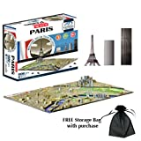 4D Paris Skyline Time Puzzle Includes Storage Bag
