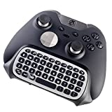 GamersDigital 2.4G Mini Wireless Chatpad Game Controller Keyboard with Audio Pass Thru, Black/Silver
