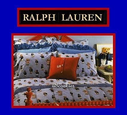 Amazon Com Ralph Lauren Signature Teddy Bear Comforter Set Home