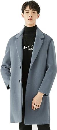 Manteau Longue Homme Blanc Coupe Vent Manteau Tissu De Laine