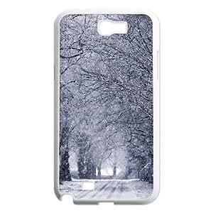 {Road & Highway Series} Samsung Galaxy Note 2 Case Winter Road, Case Dustin - White