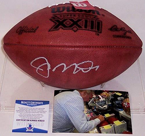 (Joe Montana Autographed Hand Signed Super Bowl 23 XXIII Official NFL Football - BAS)