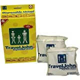 TravelJohn Unisex Disposable Urinal Pack of 6