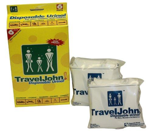 TravelJohn-Disposable Urinal (6 pack), Outdoor Stuffs