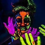 neon nights 8 x UV Body Paint Black Light Make-Up