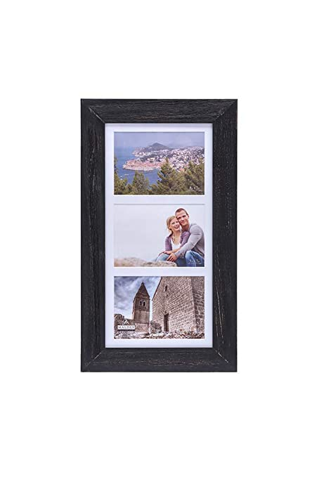 3 opening 5x7 frame malden international malden 5x7 distressed wood 3opening matted collage picture frame displays three pictures amazoncom