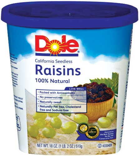 Dole Raisin Seedless, 18 Ounce Canister by Dole