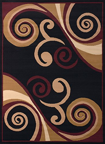 United Weavers of America Dallas Billow Rug, 2 x 3', Burgundy (1'3 Inch Area Rug)