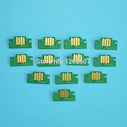 12 Color Pfi 101 Compatible Cartridge Chip for Can0n Image Prograf Ipf5000 Ipf6000 Plotter Printer Spare Parts