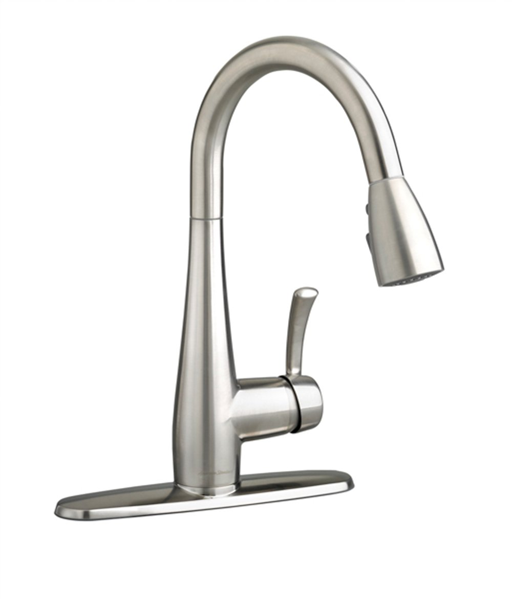 American Standard 4433300.075 Quince 1-Handle Pull Down High-Arc Kitchen Faucet, 1.5 GPM, Stainless Steel