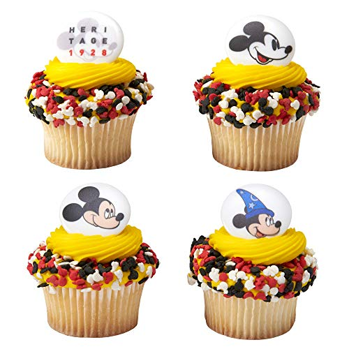 Baking Addict Cupcake Topper Decorations Cake Pop Dessert Decorating Rings Mickey Heritage 1928, Wholesale Case of 576 (8 Packs of 72)