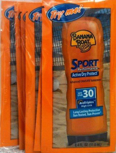Banana Boat Sport Sunscreen, SPF 30 Protection lotion, Travel Packets 12 Packs playtex