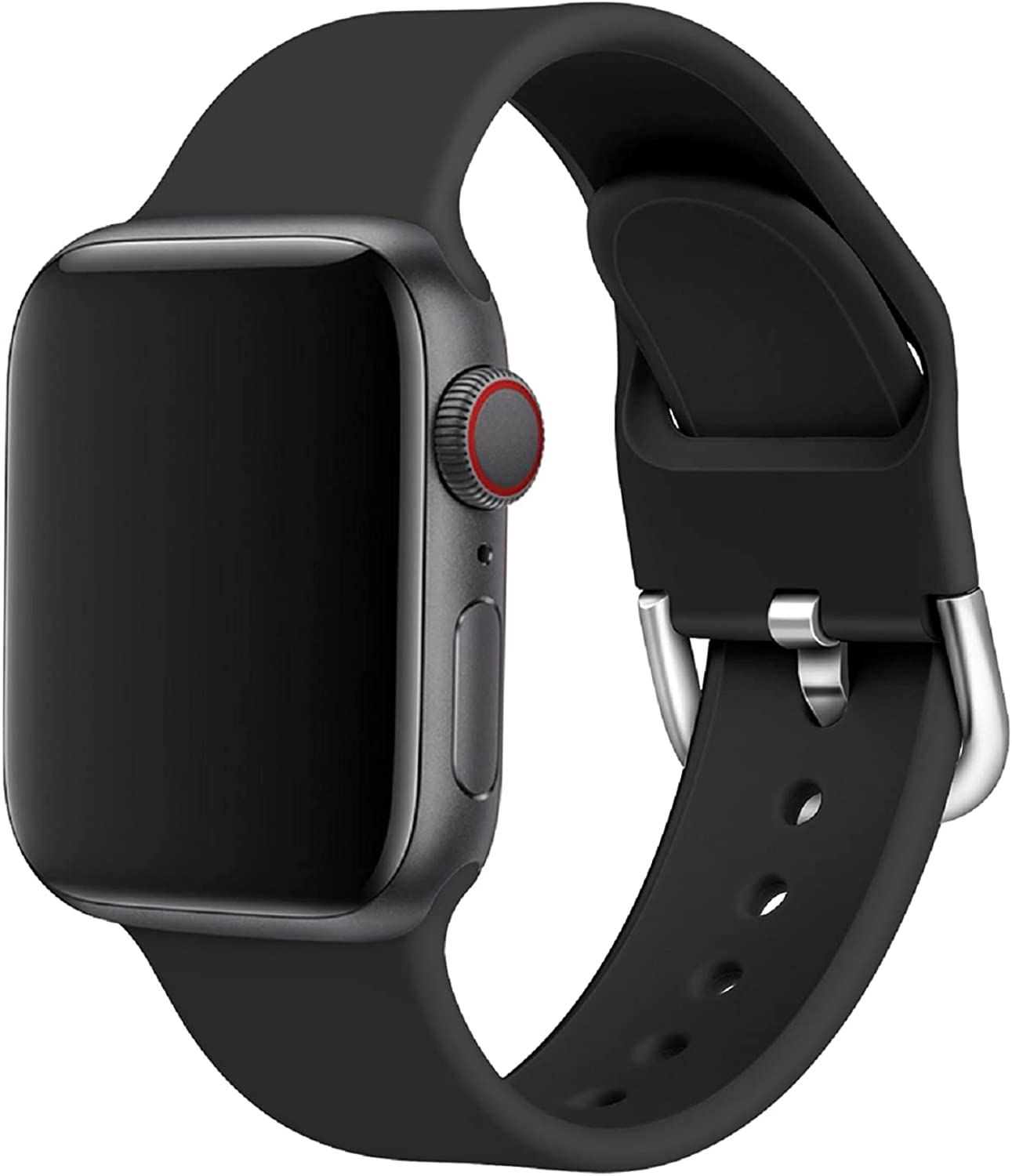 Compatible with Apple watch Bands 38mm 40mm 42mm 44mm, Soft Silicone Sport Loop Bands Compatible with iwatch Series 6/5/4/3/2/1/SE, Sports Edition for Both Men & Women