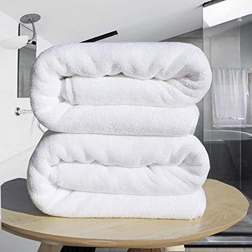 Lxryxx Hotel Toalla de baño de algodón Toalla Blanca Engrosamiento Toalla de baño Grande Viaje Secado rápido Sauna Absorbente Toalla de Playa Toalla de ...