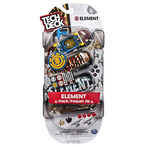 Tech Deck 4-Pack 96mm Finger Skate Boards Element ()