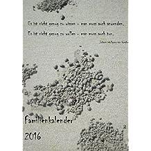 Familienkalender 2016 (Krebs): mit 4 Spalten zum organisieren und planen rund um die Familie