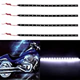 cciyu 4 pack 11.8inch 15-SMD White Motorcycles LED Strip Light Decoration Light Bar