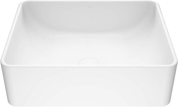 Vigo Vg04005 19 75 L 14 375 W 6 25 H Amaryllis Handmade Matte Stone Rectangle Vessel Bathroom Sink In White Finish Amazon Com
