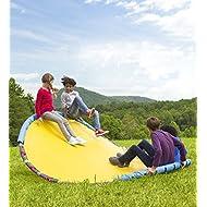 HearthSong Wonderwave Giant Seesaw Rocker Rocking Toy Outdoor Backyard Play Playground Equipment Foam Padding Durable Handles Holds 500 Lbs 8' Diam