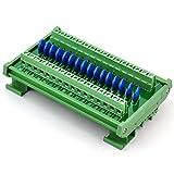 Chunzehui DIN Rail Mount 275V SIOV Metal Oxide Varistor Interface Module, 16 Channels Individual.