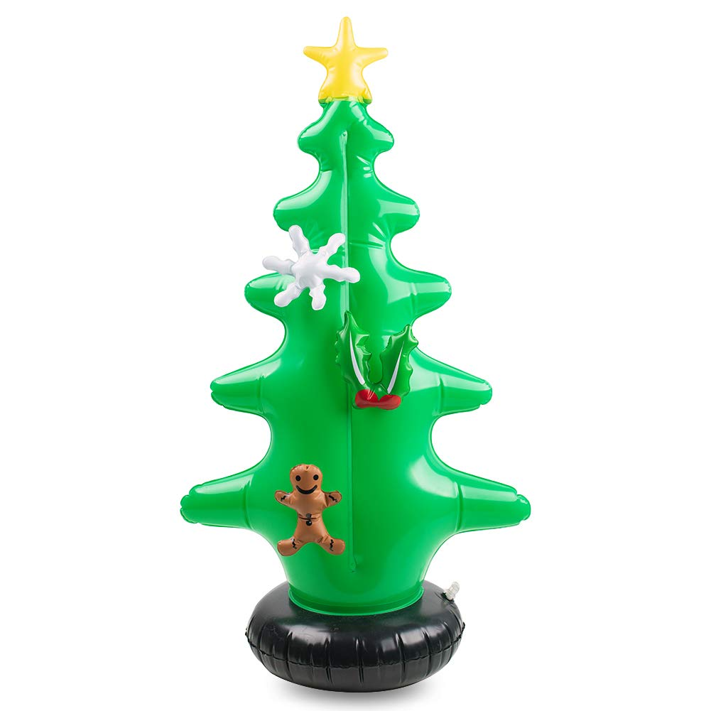 FuturePlusX Inflatable Christmas Tree, Christmas Blow Ups with 7PCS Christmas Decoration Kit for Ornament Indoor Outdoor Christmas Yard Decoration Holiday Decorations