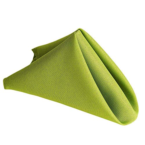 Polyester Sage Green Cloth Dinner Napkins - Stain Resistant Washes Easily - Dinner Thanksgiving Christmas Family Dinner Wedding New Year Eve Gift Restaurant (Sage green, Napkins 17
