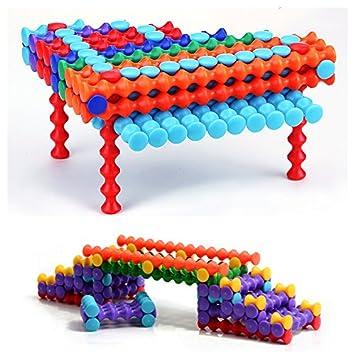 Wishtime bloques de construcción de juguetes 150 piezas de plástico Stick y Stack juguetes Playsticks conjunto de construcción para los niños: Amazon.es: ...