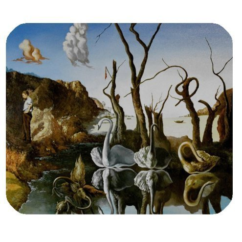 "Price comparison product image Funny Mouse Pads Salvador Dali Art Works, World Famous Paintings Cloth Cover Rectangle Mouse Pad 9.84""x7.87"""