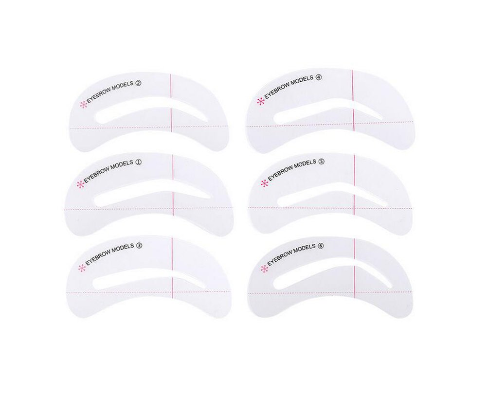 6PCS Different Styles Eyebrow Grooming Stencil Card-Eyebrow Shaping Tools Templates DIY Makeup Beauty Accessories Elandy